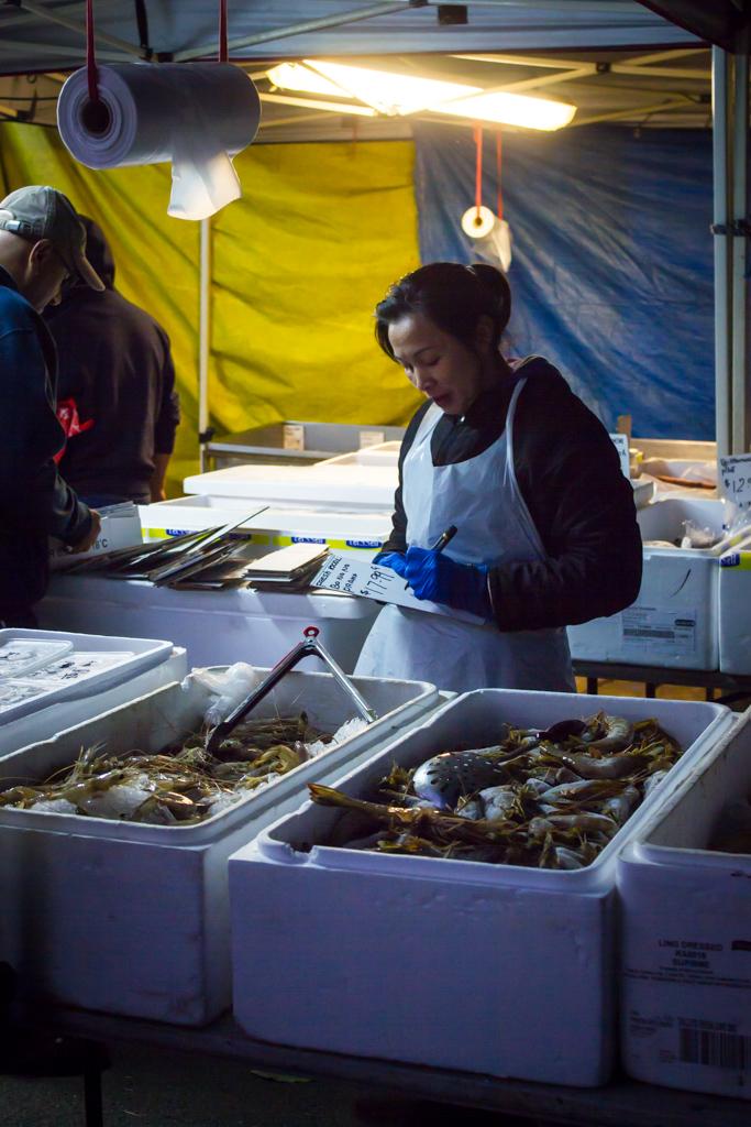 Pricing fish.